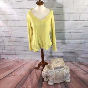 Left of Center Yellow Tunic Top